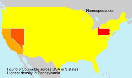 Surname Courouble in USA