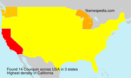 Surname Courquin in USA
