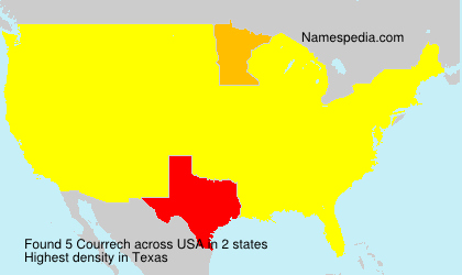Familiennamen Courrech - USA