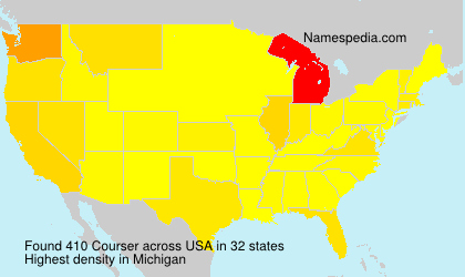 Surname Courser in USA