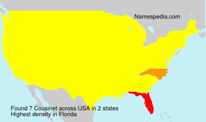 Surname Cousinet in USA