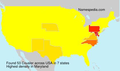 Familiennamen Cousler - USA