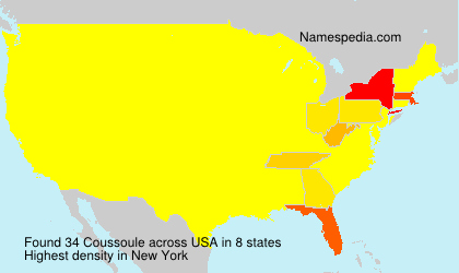Surname Coussoule in USA
