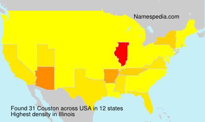 Familiennamen Couston - USA