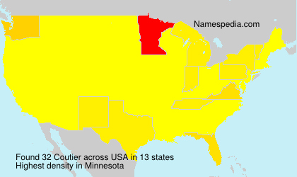 Surname Coutier in USA