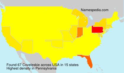 Surname Coveleskie in USA