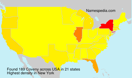 Surname Coveny in USA