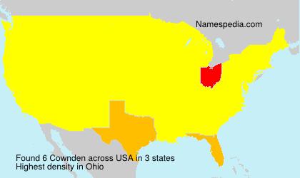 Familiennamen Cownden - USA
