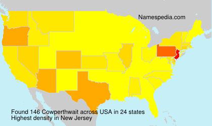 Surname Cowperthwait in USA