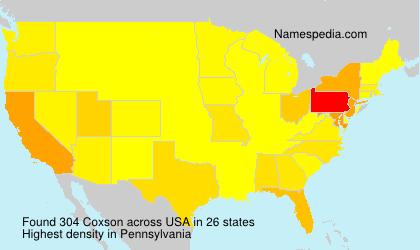 Surname Coxson in USA