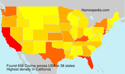 Surname Cozine in USA