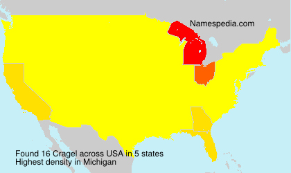 Surname Cragel in USA