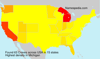 Surname Craves in USA