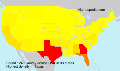 Surname Cravey in USA