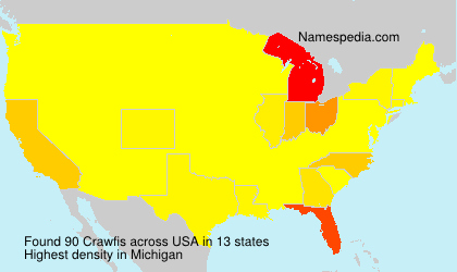 Surname Crawfis in USA
