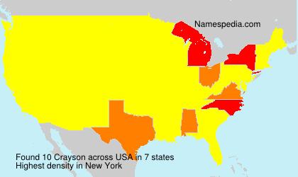 Surname Crayson in USA