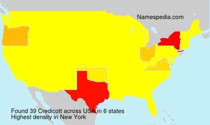 Familiennamen Credicott - USA