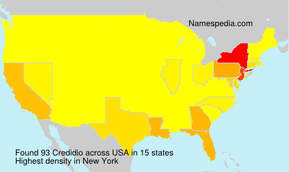 Familiennamen Credidio - USA