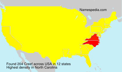 Surname Creef in USA
