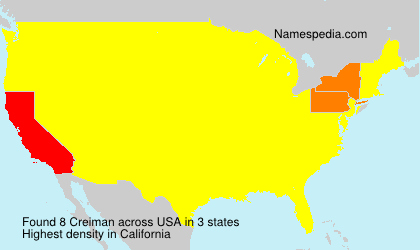 Surname Creiman in USA