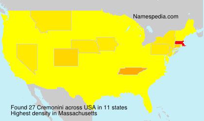 Surname Cremonini in USA