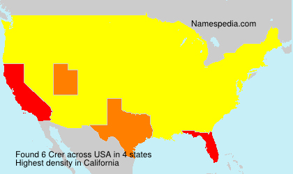 Surname Crer in USA