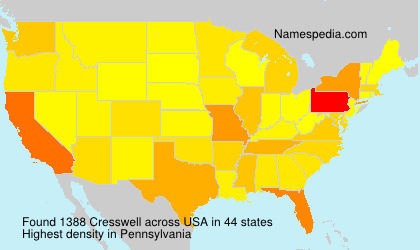 Surname Cresswell in USA