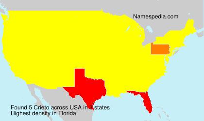 Surname Crieto in USA