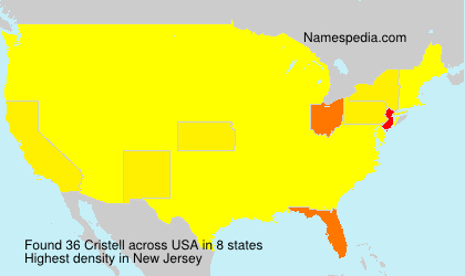 Surname Cristell in USA