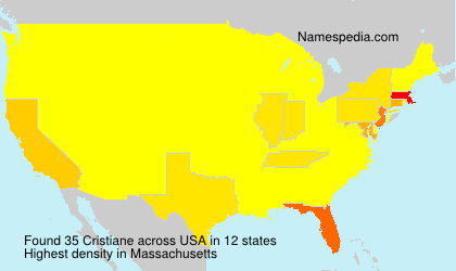 Surname Cristiane in USA