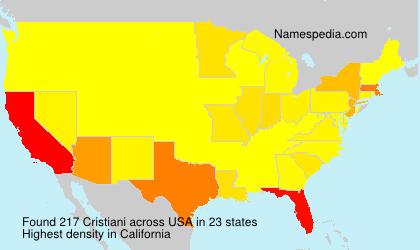 Surname Cristiani in USA