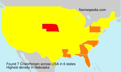 Surname Cristoffersen in USA