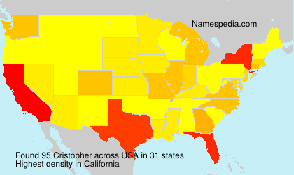 Surname Cristopher in USA