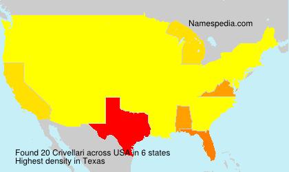 Familiennamen Crivellari - USA