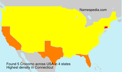 Surname Crocomo in USA
