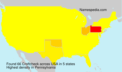 Surname Croftcheck in USA