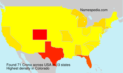 Surname Crona in USA