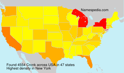 Surname Cronk in USA