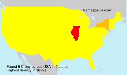 Surname Crony in USA