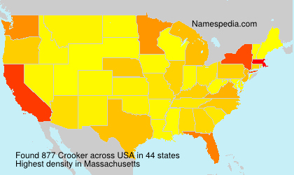 Surname Crooker in USA