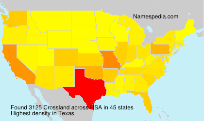 Surname Crossland in USA