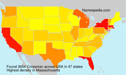 Surname Crossman in USA
