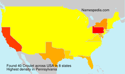 Surname Croulet in USA
