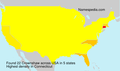 Surname Crownshaw in USA