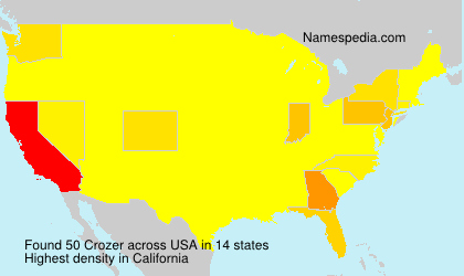 Surname Crozer in USA