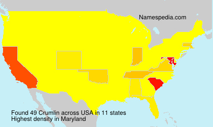 Surname Crumlin in USA