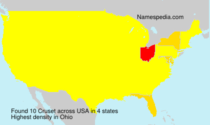 Surname Cruset in USA