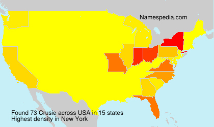 Surname Crusie in USA
