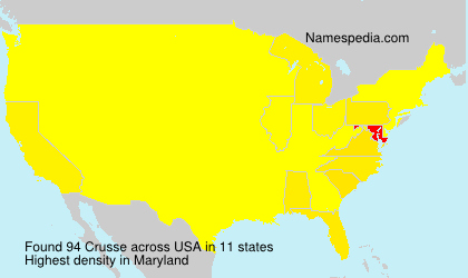 Surname Crusse in USA
