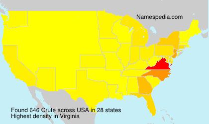 Surname Crute in USA